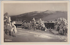 PETROVA BAUDA - PETERBAUDE, CZECH REPUBLIC. WINTER VIEW. VINTAGE PHOTO POSTCARD