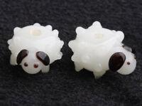 10pcs handmade Lampwork glass  Beads cute white sheep  10*15mm