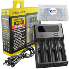 NITECORE New i4 Intellicharger 2017 Smart Charger 4 Slot 18650 + Battery Case