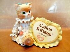 "Calico Kittens Event Piece with ""Calico Kittens"" on Embroidery Hoop 1992"