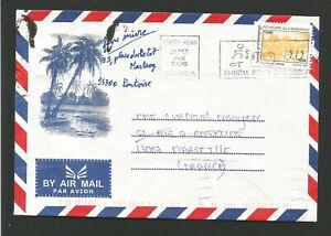 Royaume du Cambodge Phnom Penh 1998 timbre sur lettre pour Marseille /L1706