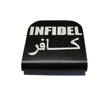 Infidel Black Hat Clip for Tactical Patch Caps by Morale Tags
