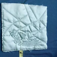 """(4) Quilt Block Square Fabric Vintage Baby Applique Embroidery 8-1/4"""" #MQ1"""