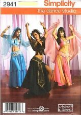 Simplicity 2941 Belly Dancer Bollywood Dance Costume pattern 14+