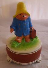 Paddington Bear Music Box Eden Toys 1980 Gorham