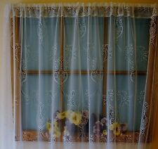 HERITAGE LACE WHITE INTERTWINED DESIGN SHEER LACE CURTAIN PANEL ITEM A163