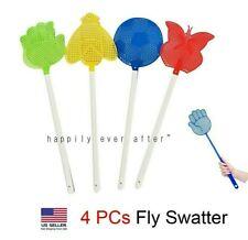 Fly Swatter Heavy Duty Buzzwacket Kills Flying Insects Black Dileo Pest Devices