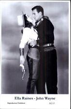 Actor Actress Duo SWIFTSURE 2000 - Postcard ELLA RAINES & JOHN WAYNE