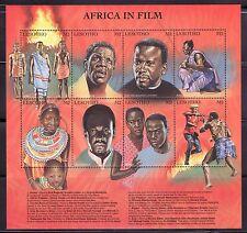 SELLOS TEMA CINE LESOTHO 1998 8v. MH CINE AFRICANO