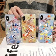 COVER SILICONE IPHONE 6s- 7 - 8 - X - XR  Disney Paperino Stitch Donald cip ciop