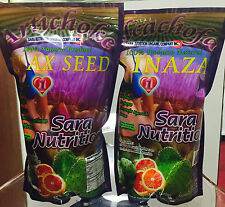 2 Pieza Pack New Alcachofa Linaza Flax Seed Sara Nutrition Colon Cleanse 14oz
