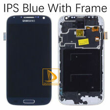 Blue For Samsung Galaxy S4 GT-i9505 LCD Touch Screen Digitizer Assembly Frame &5