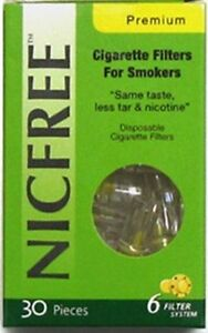 NICFREE Premium Cigarette Filters & Holders Remove Tar Nicotine -- 30 FILTERS --