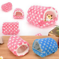 Mini Cute Winter Hamster Pad Bed Nest Plush Guinea Pig House Small Animal Cage