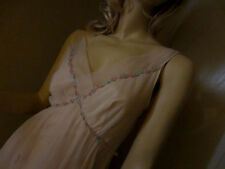 Vintage KAYSER 50's 60's PINK GODDESS GRECIAN Gown Nightgown Lingerie SIZE S 34