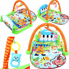 Baby Gym Floor Play Mat Activity Center Musical Lullaby Kick and Play Piano Toy