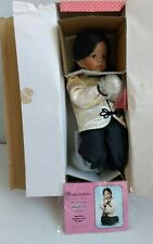 """Porcelain Doll """"Golden Orchid"""" 14"""" Praying Girl Doll Paradise Galleries w/COA"""