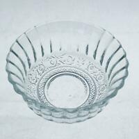 Vintage Sandwich Pattern Glass Scalloped Dessert/Berry Bowl - Malaysia