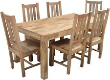 6 Seater Fixed top Solid Mango Wood Dining Set