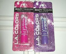 2 L.A. Colors Beauty Treasures Berry and Bubble Gum Lip Scrub New