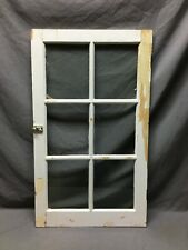 Antique 20x34 6 Lite Casement Shabby Window Vtg Old Cabinet Cupboard Chic 97-21B