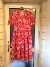 Vintage Laura Ashley Tea Dress Red Floral size 14