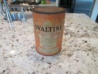 RARE Vintage 1939 OVALTINE Can 4 lb Hospital Size Large Tin The Wander Company