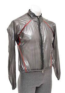Hincapie Power Rain Shell Men SMALL Grey Waterproof Jacket Cycling Packable Bike