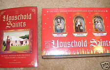 Household Saints Book W/Hand Painted Saint Figures NEW!