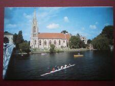 POSTCARD B20 BUCKINGHAMSHIRE ALL SAINTS CHURCH FROM THE RIVER