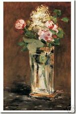 Flowers in a Crystal Vase by Eduard Manet - Poster