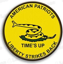 """Gadsden """"Times Up"""" Militia Patch"""