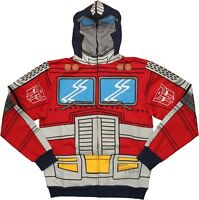 Transformers Optimus Prime Autobot Costume Zip Up Hoodie