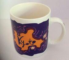 Starbucks 1999 Kyoto  Japan Coffee Tea Mug Cup Purple Orange