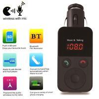 Wireless Bluetooth FM Transmitter Modulator Car MP3 Player SD USB LCD Remote GA