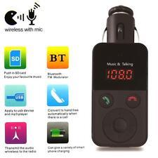Wireless Bluetooth FM Transmitter Modulator Car MP3 Player SD USB LCD Remote UP