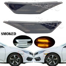 Smoked LED Side Marker Light for 2016-2020 Honda Civic Turn Signal DRL Lamp Kit