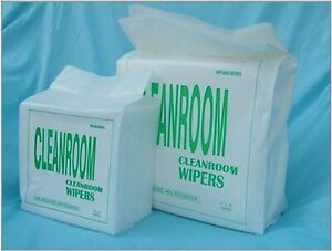 """KX606 300 pcs 6"""" x 6"""" Cellulose and Polyester Cleanroom Wiper, Lint Free Wipe"""