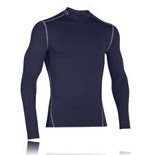 Abbiglimento sportivo da uomo blu di compressione a manica lunga