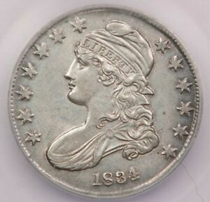 1834-P 1834 Capped Bust Half Dollar ICG MS60 Details Still luster remaining!