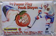 7-11 Store Slurpee Machine Translite Advertising Poster NHL Hockey Peach Flavor