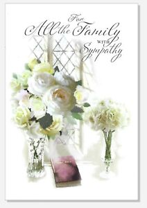 Sympathy Card To All The Family - Simon Elvin Condolence Bereavement Loss 27977