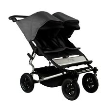 Mountain Buggy 2015 Evolution Duet Double Stroller - Flint  New! Free Shipping!