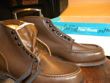 NIB 1960's Men's Vintage Work Boots Powr House by Montgomery Ward Size 10 D USA