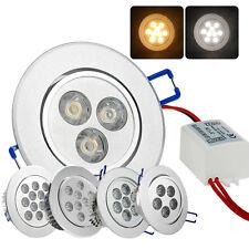 3W 5W 7W LED Spot Einbaustrahler Einbauleuchte Set Einbauspots Deckenspots 230V