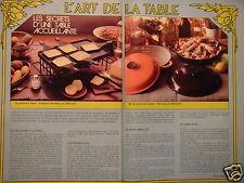 PUBLICITÉ 1981 LE CREUSET GRILLADOU-RACLETTE FAIT-TOUT - PYREX - ADVERTISING