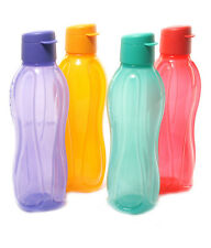 2 X Tupperware FlipTop Water Bottles 1 Litre Aquasafe Eco Sports Free Shipping