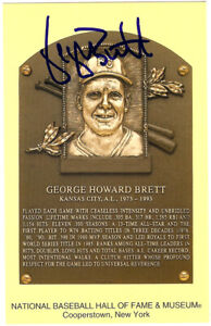 George Brett Autographed Signed HOF Postcard Kansas City Royals JSA M48327