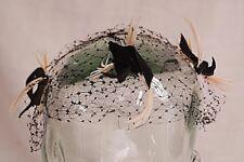 Old Vintage Don Marshall Black Pillbox Women's 3 Birds Netting Veil Replacement