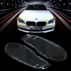 2pcs Headlight Headlamp Lens Covers L&R Lampshade Clear For BMW X5 E70 2007-2012